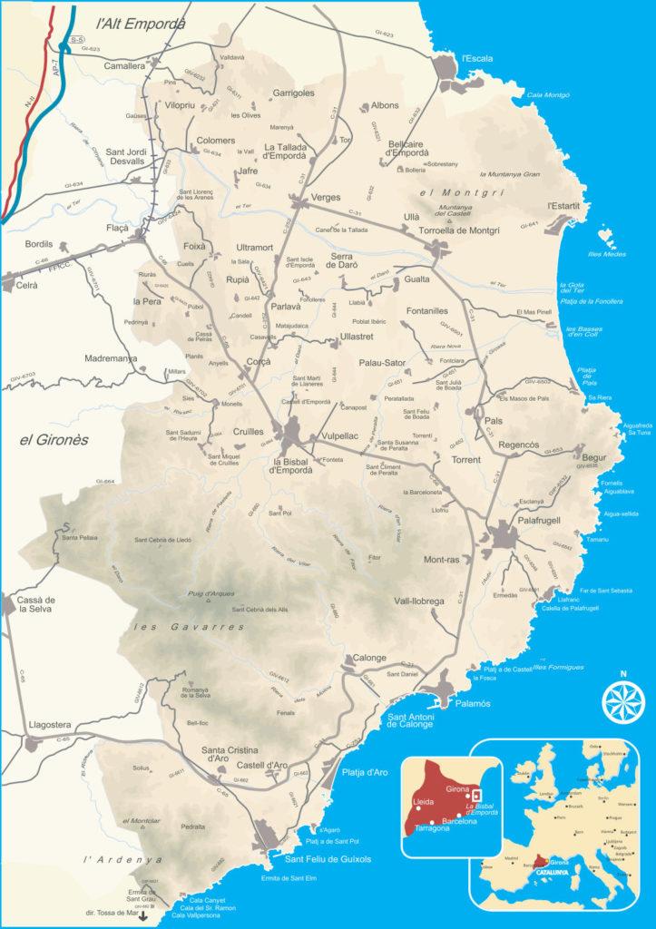 imagen mapa baix emporda